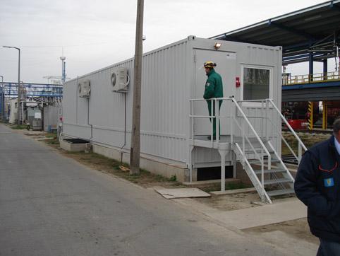 Специален контейнер - контролна зала за зареждане на цистерни